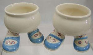 Carlton Ware Walking Ware Eggcup - Red/Blue Spots x 2 - SOLD